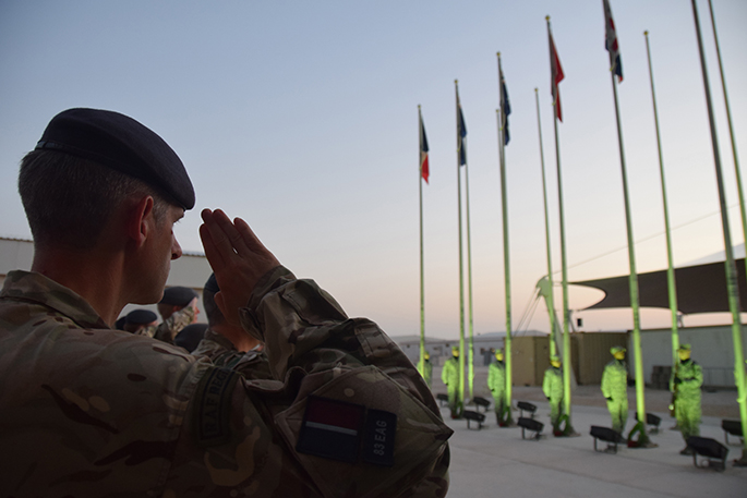 ANZAC Day ceremony begins the day in Southwest Asia