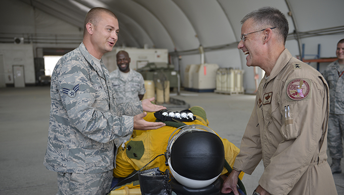 Coalition Leader visits 380th Air Expeditionary Wing