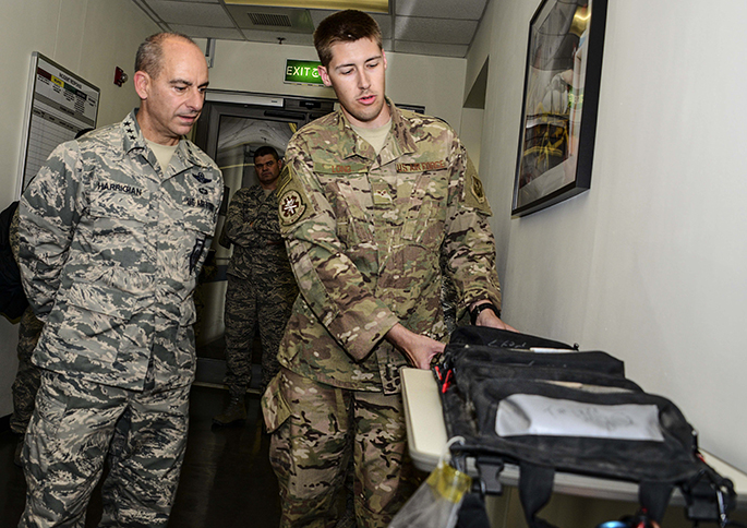 AFCENT commander gets first-hand look of 379th AEW mission