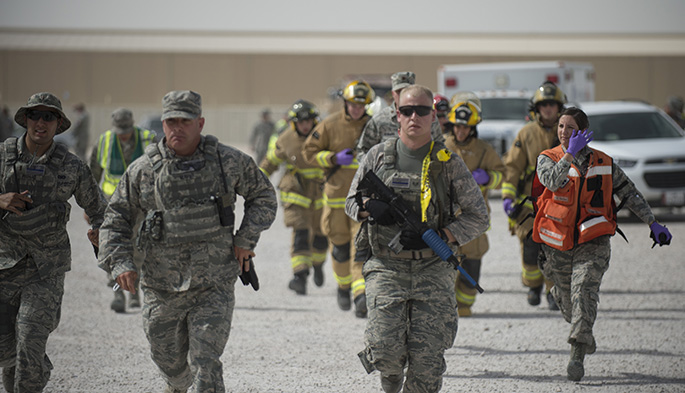 Active shooter exercise tests Airmen's response