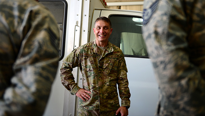 AFCENT Command Chief visits 407th AEG