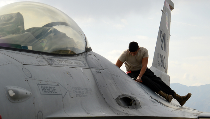 BAF crew chief ensures delivered airpower