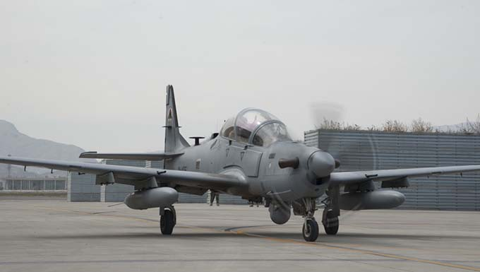 Afghan A-29s hitting the mark