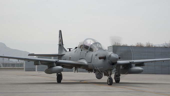 Afghan A-29s hitting the mark