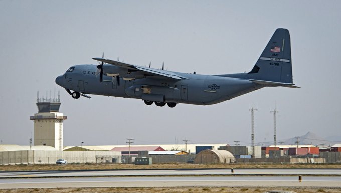 C-130s rapidly support Advisory Package, Afghan Army in Maimanah
