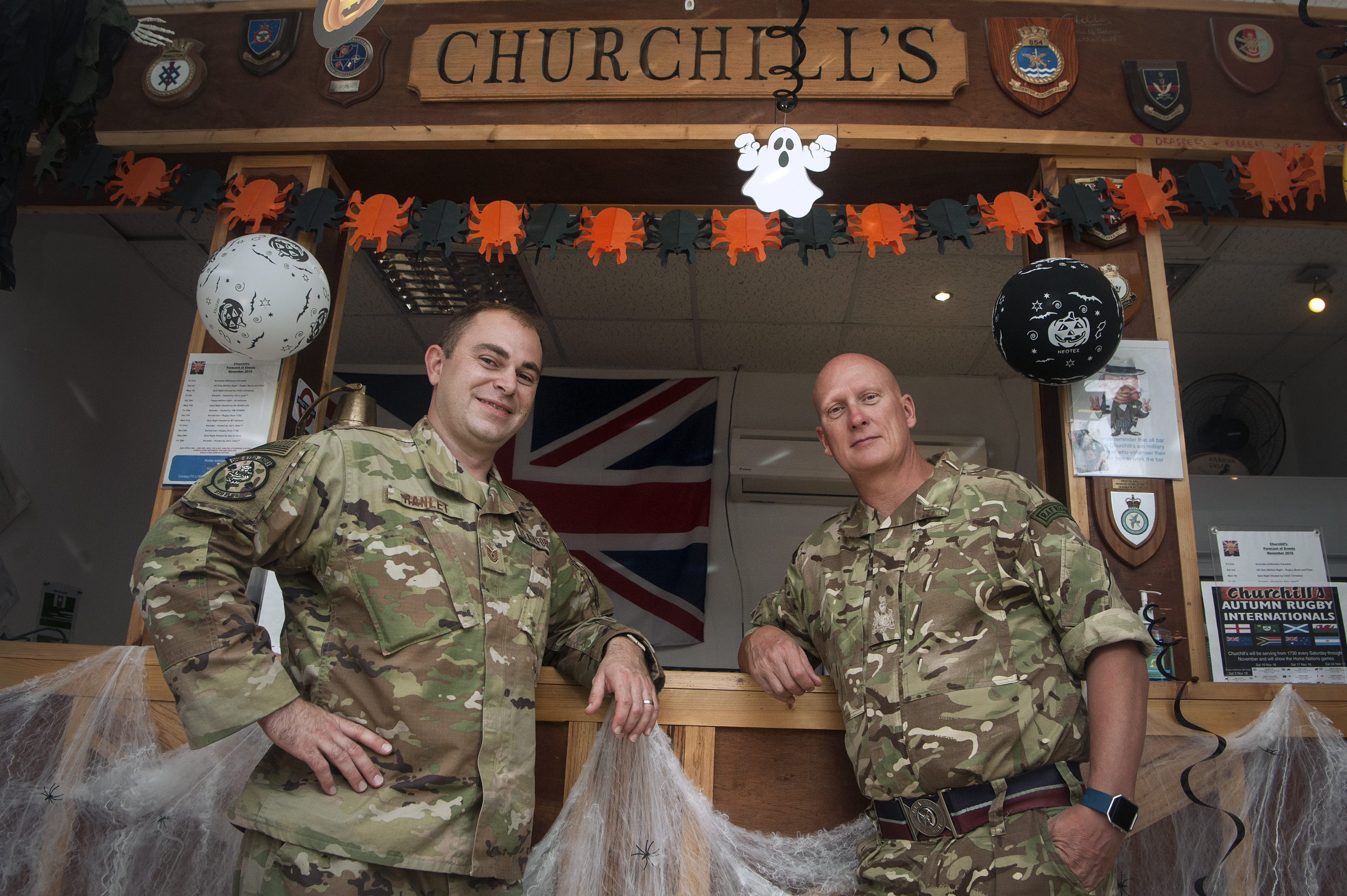 U.S., RAF Airmen partner to renovate club