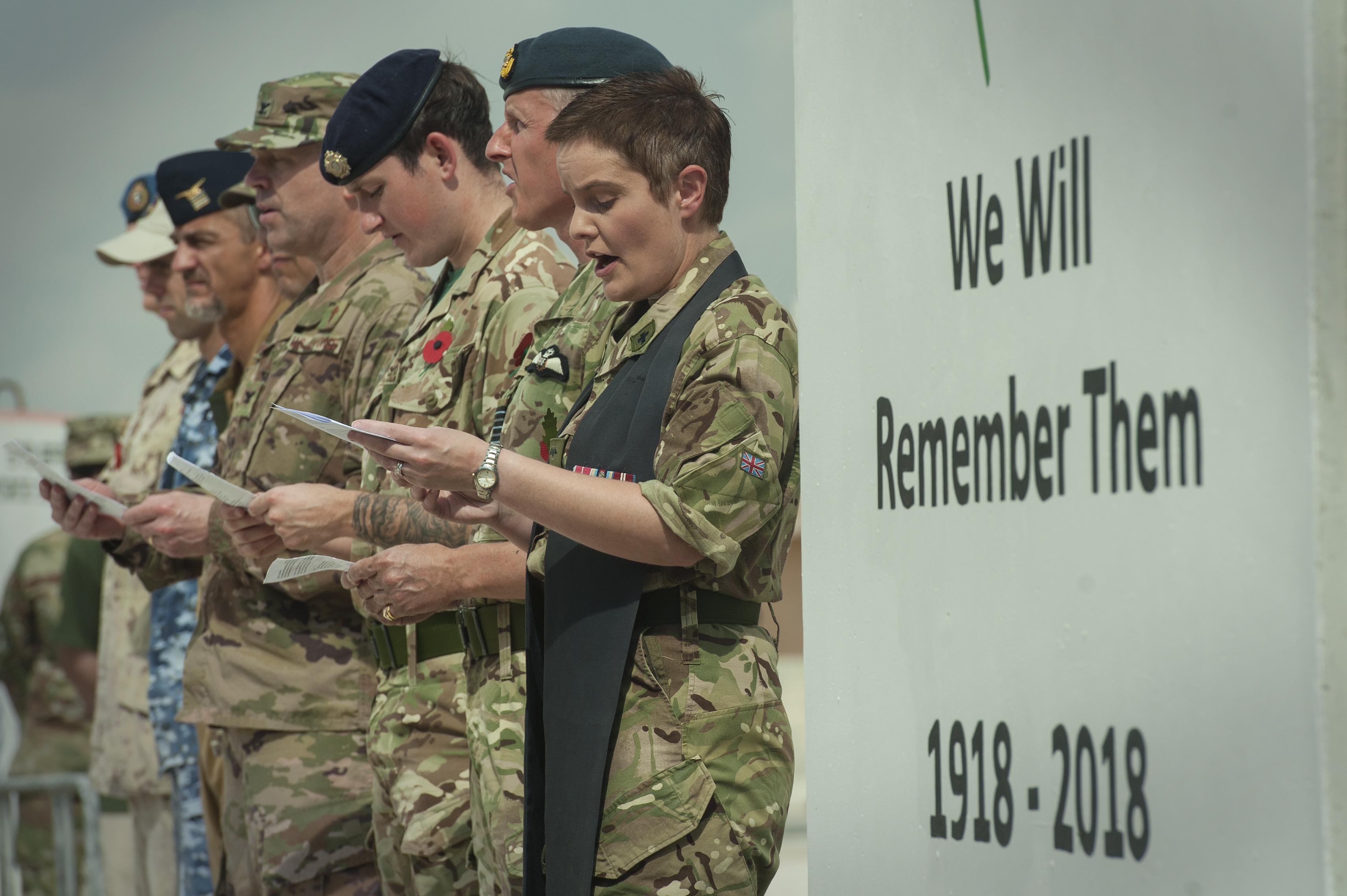 RAF hosts 100-year WWI remembrance service