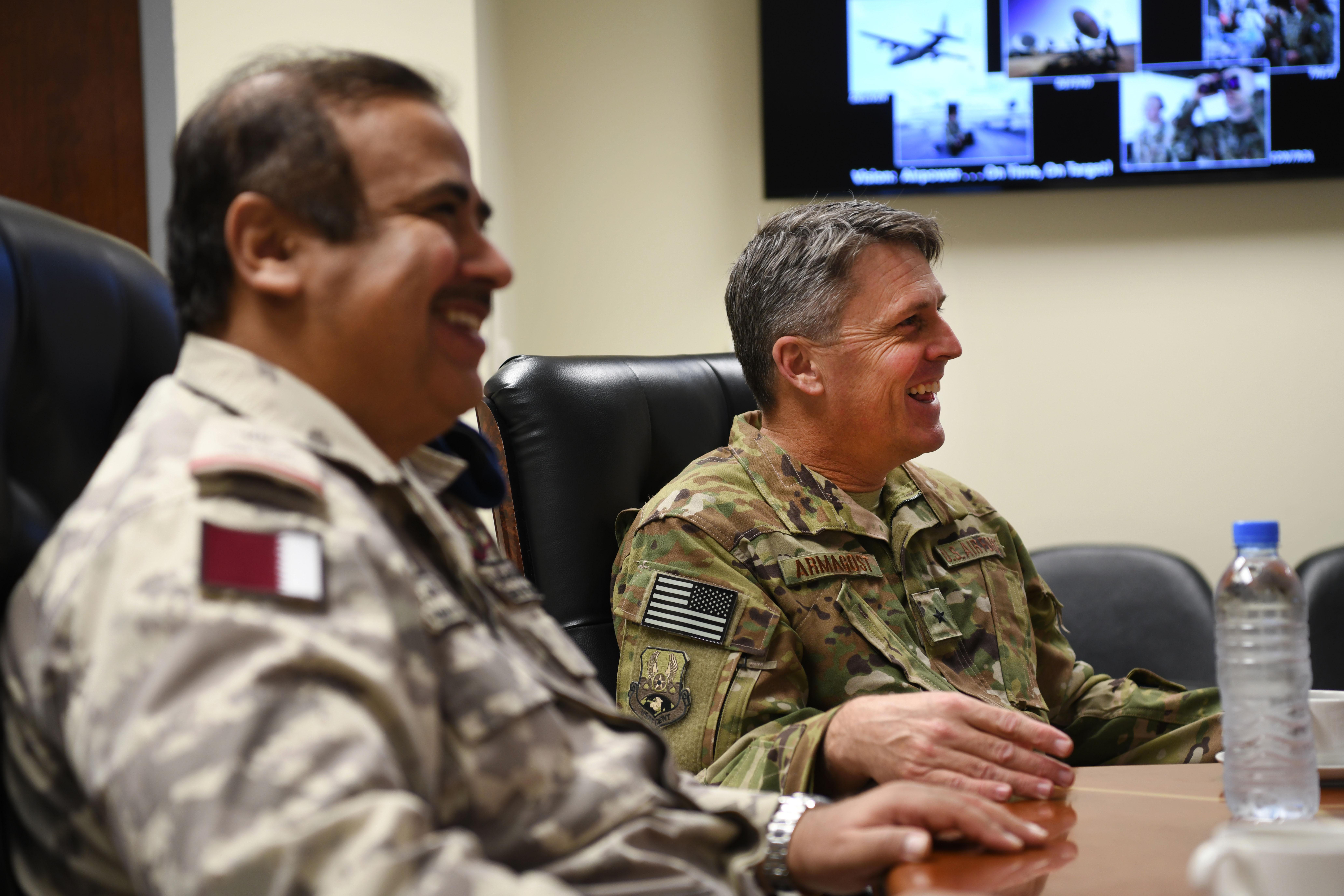 Qatar Emiri Air Force top leader visits 379th Air Expeditionary Wing