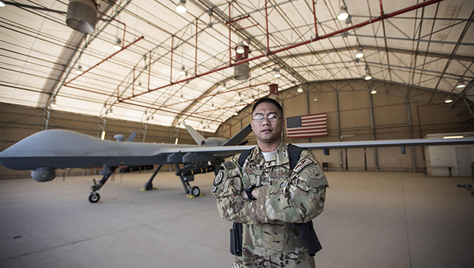 Deployed Airman gives back to land of opportunity