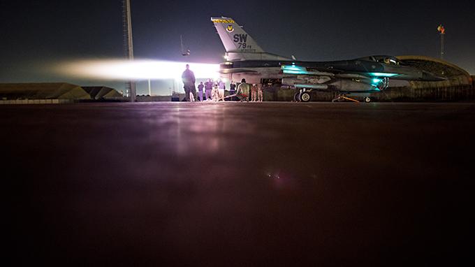 Viper operations inspection lights up night