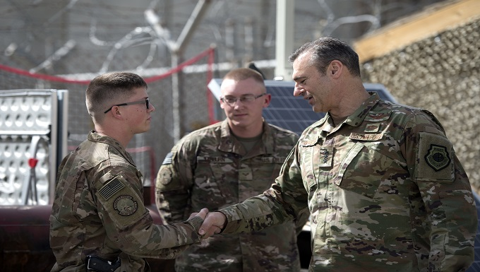 AFCENT commander visits Bagram Airmen