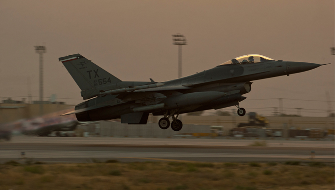 93rd EFS takes off into the night