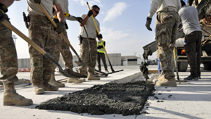 Bagram civil engineer team keeps airpower flying by repairing airfield